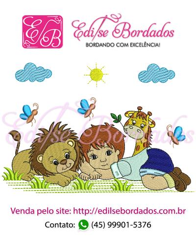 Detalhes do produto Menino com Leão e Girafa Edi 1